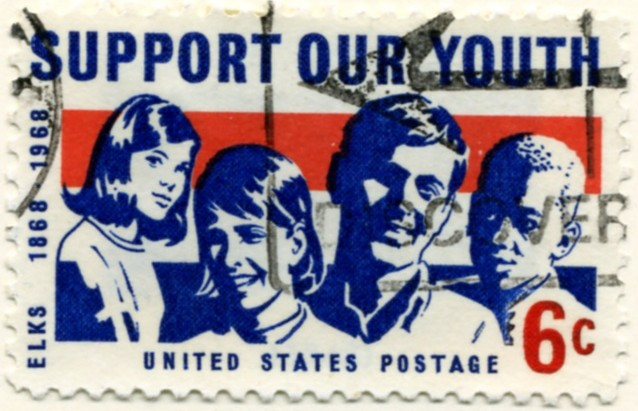 Scott 1342 6 Cent Stamp Support Our Youth