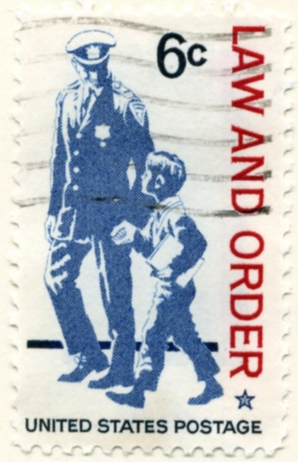Scott 1343 6 Cent Stamp Law And Order