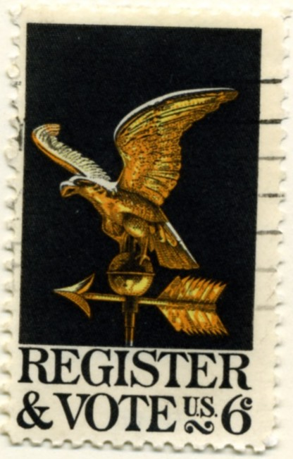 Scott 1344 6 Cent Stamp Register and Vote
