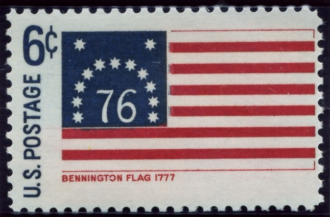 Scott 1348 6 Cent Stamp Bennington Flag