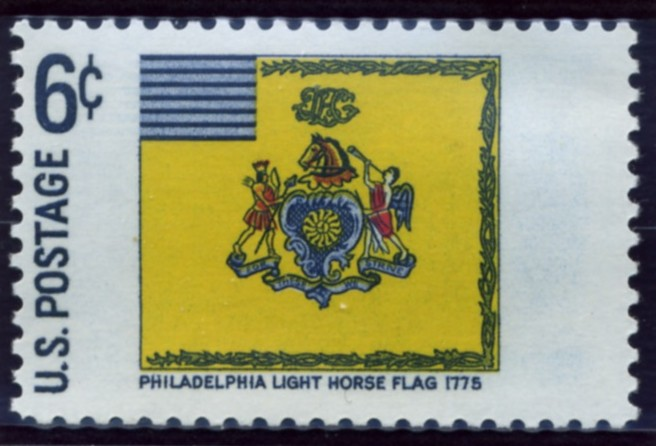 Scott 1353 6 Cent Stamp Philadelphia Light Horse Flag