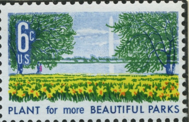 Scott 1366 6 Cent Stamp Beautification - Parks