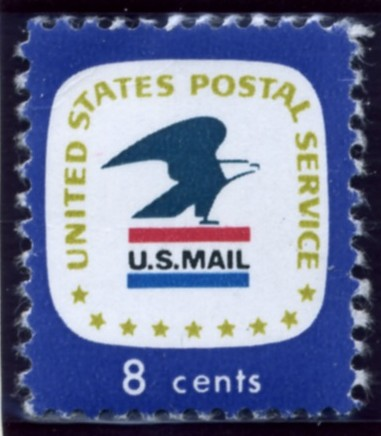 Scott 1396 8 Cent Stamp USPS Emblem