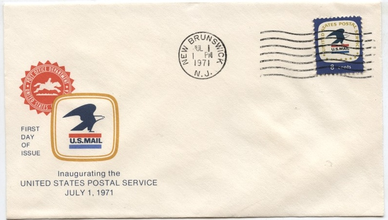 Scott 1396 8 Cent Stamp USPS Emblem First Day Cover #b