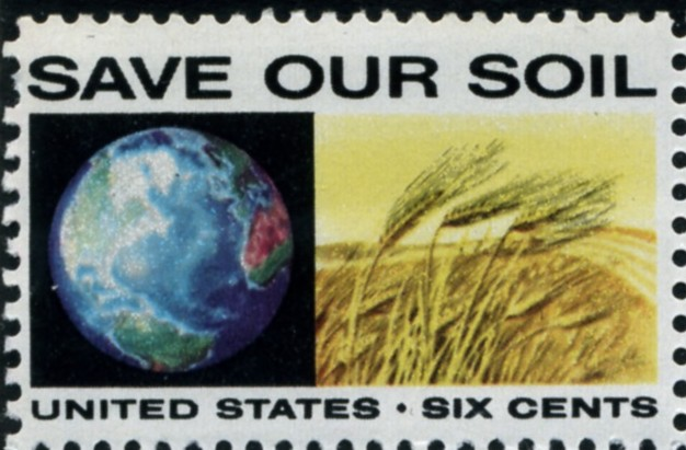 Scott 1410 6 Cent Stamp Save Our Soil
