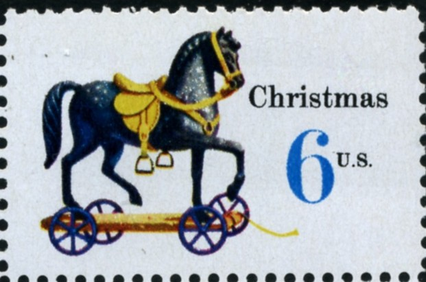 Scott 1416 6 Cent Stamp Christmas Toy Horse