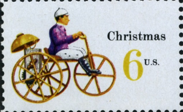 Scott 1417 6 Cent Stamp Christmas Tricycle