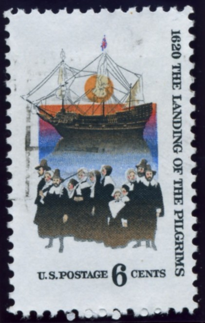 Scott 1420 6 Cent Stamp Landing Of The Pilgrims