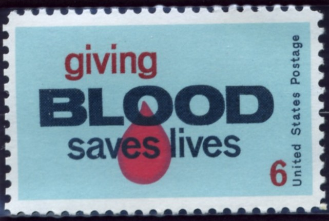 Scott 1425 6 Cent Stamp Giving Blood Saves Lives