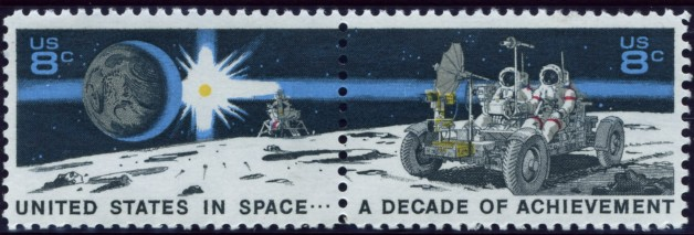 Scott 1434 to 1435 8 Cent Stamps Moon Mission