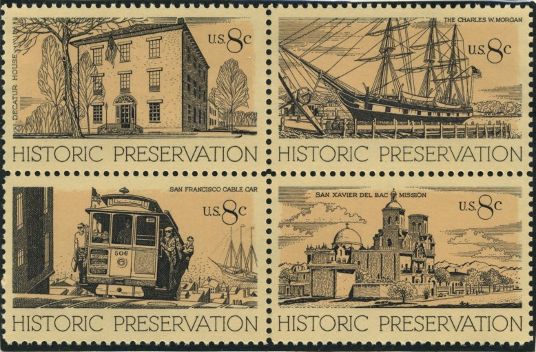 Scott 1440 to 1443 8 Cent Stamps Historic Preservation
