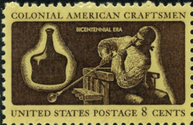 Scott 1456 8 Cent Stamp Colonial American Craftsmen Glass Blower