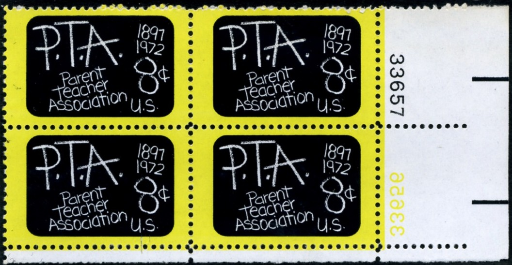 Scott 1463 8 Cent Stamp P T A Plate Block