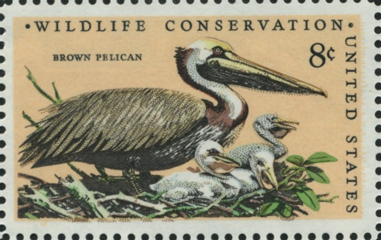 Scott 1466 8 Cent Stamp Brown Pelican
