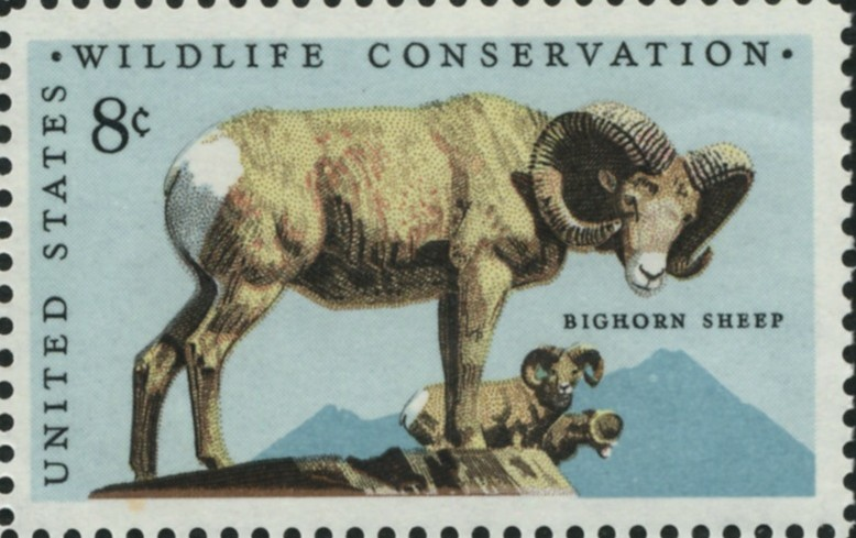 Scott 1467 8 Cent Stamp Bighorn Sheep