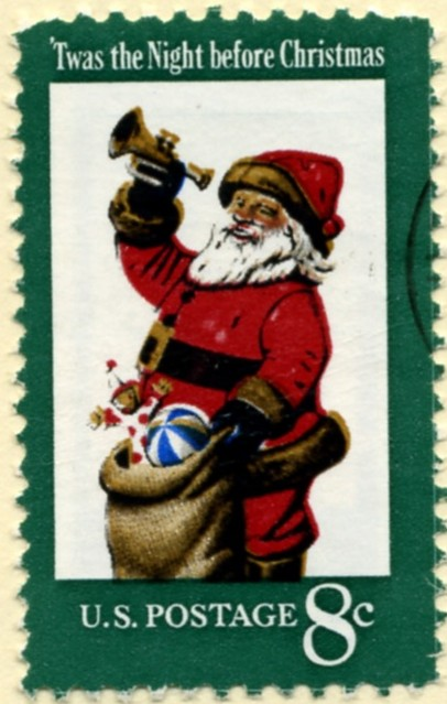 Scott 1472 8 Cent Stamp Santa Twas the Night Before Christmas a