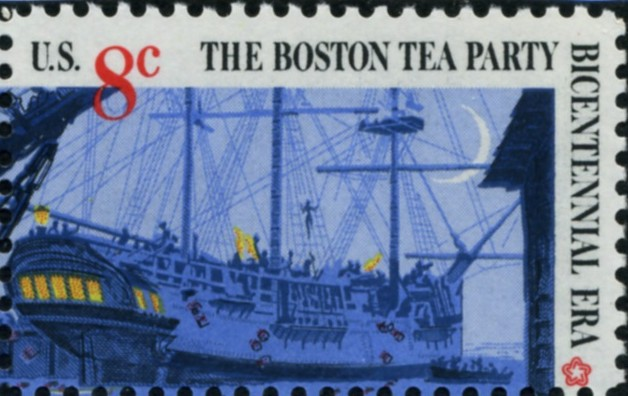 Scott 1481 8 Cent Stamp Boston Tea Party Ship at Anchor