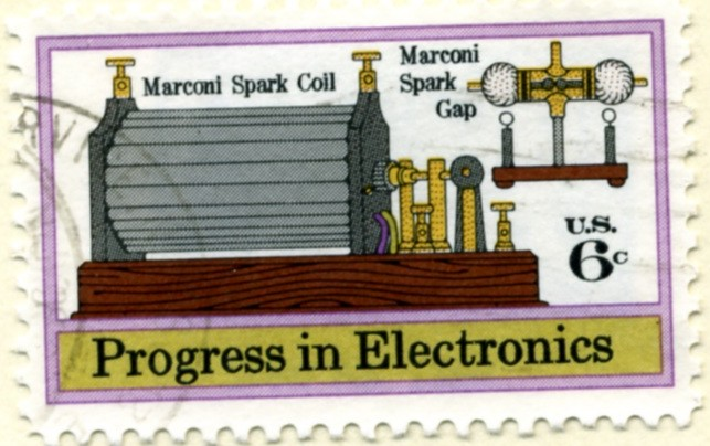 Scott 1500 6 Cent Stamp Marconi Spark Coil and Spark Gap a
