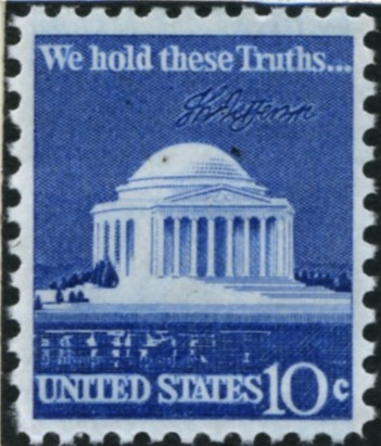 Scott 1510 10 Cent Stamp Jefferson Memorial