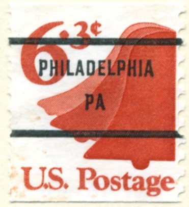 Scott 1518 6.3 Cent Stamp Liberty Bell Coil Stamp a