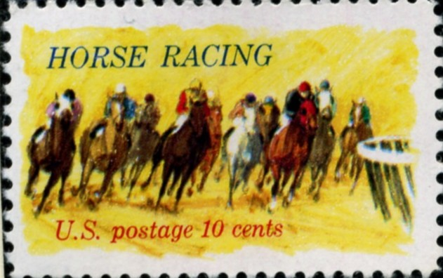 Scott 1528 10 Cent Stamp Horse Racing