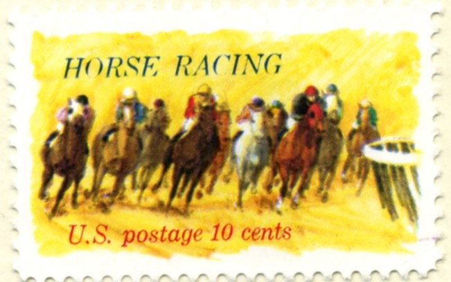 Scott 1528 10 Cent Stamp Horse Racing a