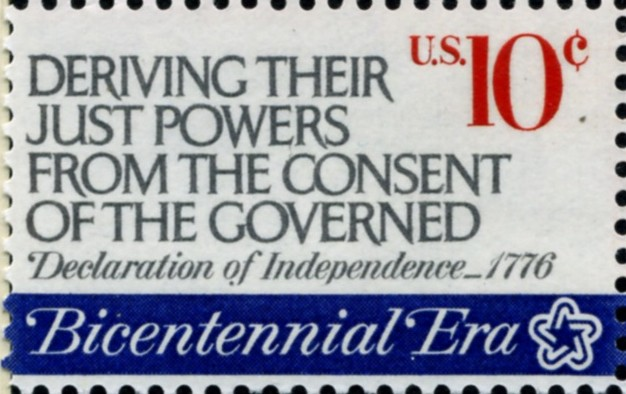 Scott 1545 10 Cent Stamp Bicentennial Era Deriving Their Just Powers