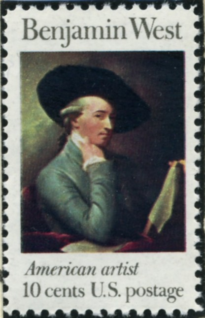 Scott 1553 10 Cent Stamp Benjamin West