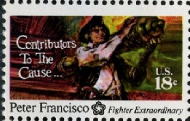 Scott 1562 18 Cent Stamp Peter Francisco