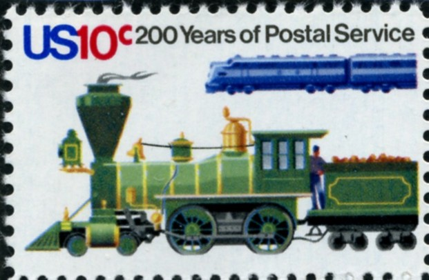 Scott 1573 10 Cent Stamp Steam Locomotive