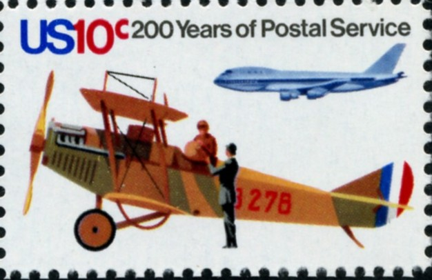Scott 1574 10 Cent Stamp Biplane
