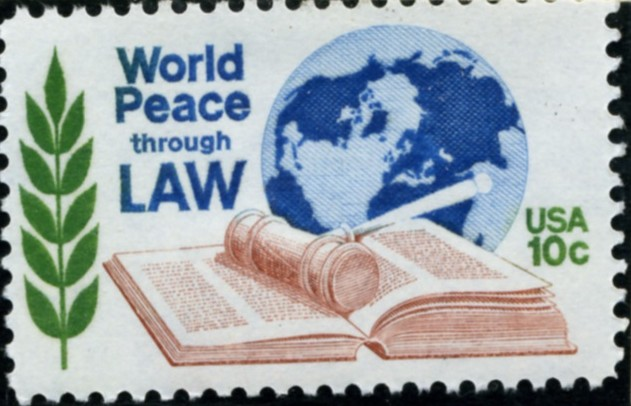 Scott 1576 10 Cent Stamp World Peace Through Law