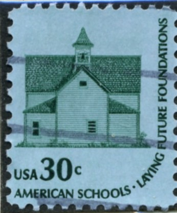 Scott 1606 30 Cent Stamp School House