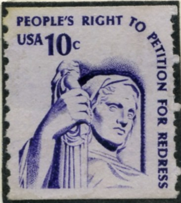 Scott 1617 10 Cent Coil Stamp Justice