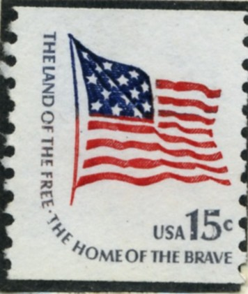 Scott 1618C 15 Cent Coil Stamp Stars And Stripes