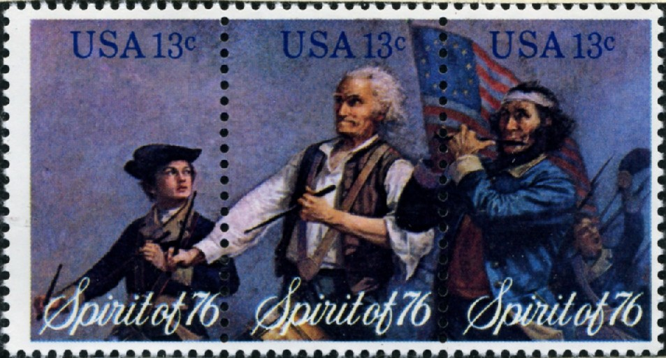 Scott 1629 to 1631 13 Cent Stamps Spirit of 76 Block