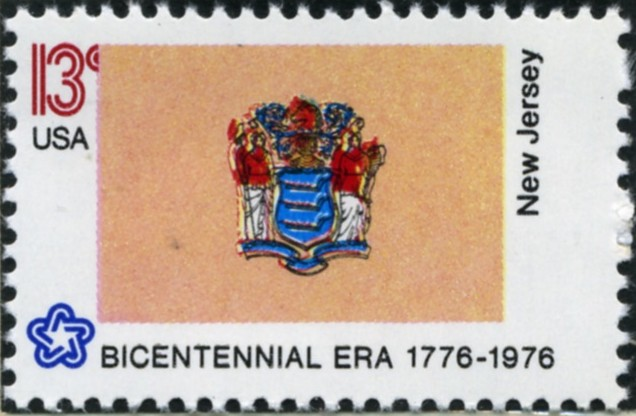 Scott 1635 13 Cent Stamp New Jersey State Flag