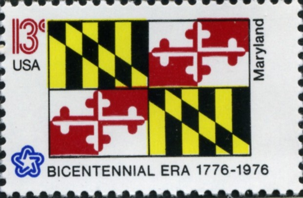 Scott 1639 13 Cent Stamp Maryland State Flag