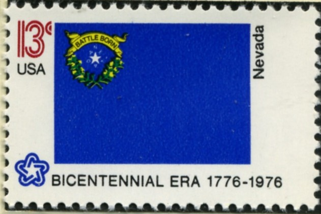 Scott 1668 13 Cent Stamp Nevada State Flag