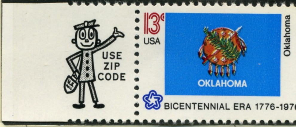 Scott 1678 13 Cent Stamp Oklahoma State Flag
