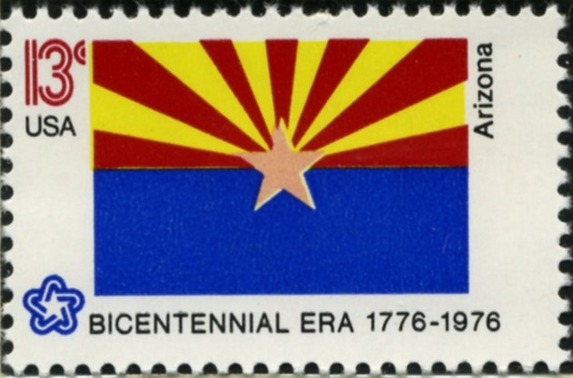 Scott 1680 13 Cent Stamp Arizona State Flag