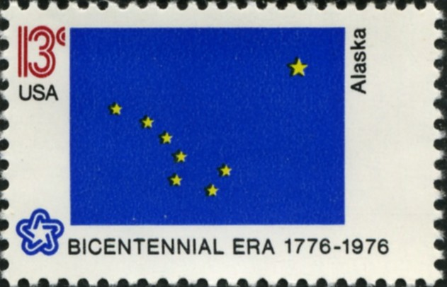 Scott 1681 13 Cent Stamp Alaska State Flag