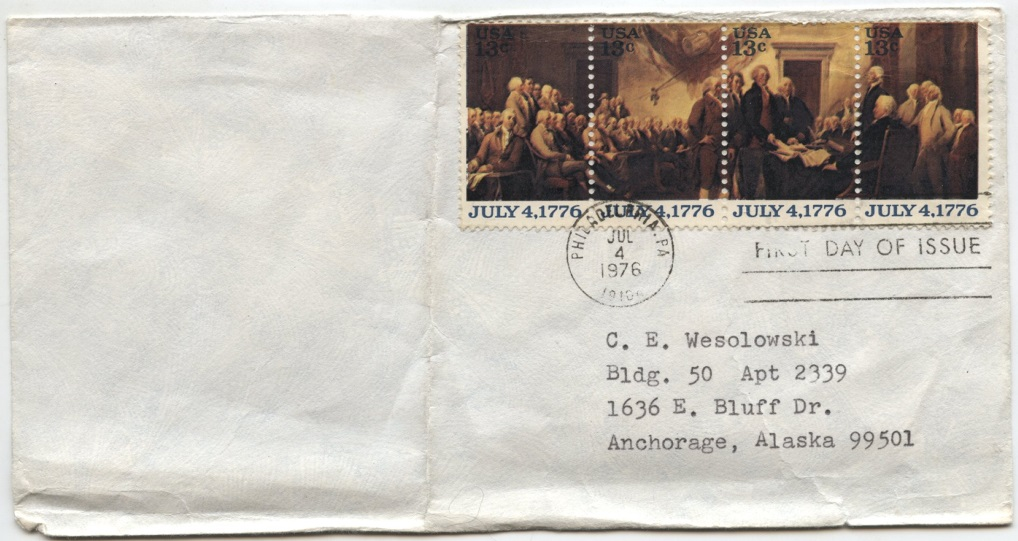 Scott 1694a 13 Cent Stamp Declaration of Independence First Day Cover