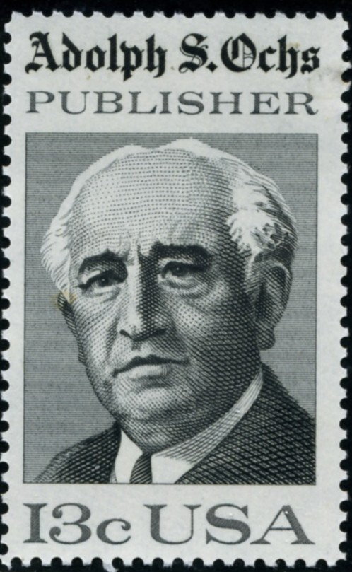 Scott 1700 13 Cent Stamp Adolf S Ochs
