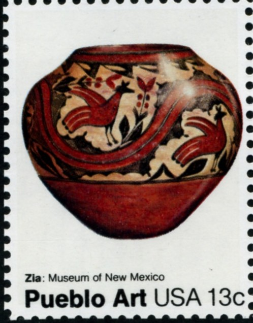 Scott 1708 13 Cent Stamp Pueblo Hopi Pot