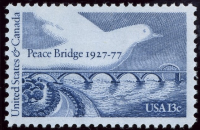 Scott 1721 13 Cent Stamp Peace Bridge