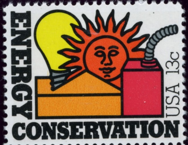 Scott 1723 13 Cent Stamp Energy Conservation