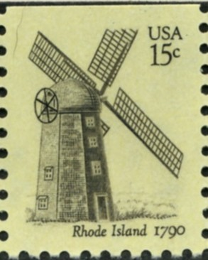 Scott 1739 15 Cent Stamp Rhode Island Windmill