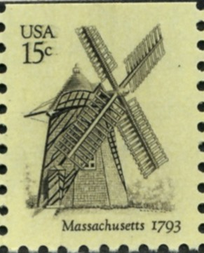 Scott 1740 15 Cent Stamp Massachusetts Windmill