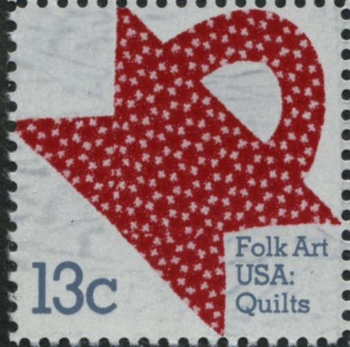 Scott 1746 13 Cent Stamp Folk Art Red and White Quilt